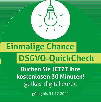 Einmalige Chance DSGVO-QuickCheck